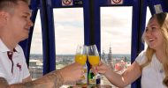 Bild Genuss-Fahrt im Dresdner Riesenrad zur blauen Stunde