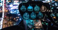 Bild Hubschrauber Rundflug in der Nacht